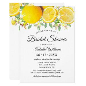 Modern Boho Lemon Summer Bridal Shower Invitation starting at 2.15