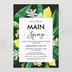 Modern Bold Main Squeeze Bridal Shower Invitation starting at 2.40