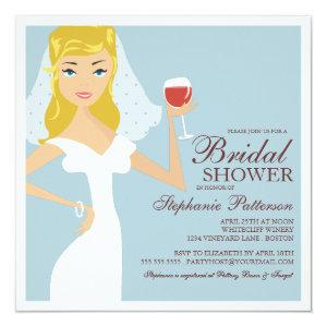 Modern Bride Wine Theme Bridal Shower Invitation starting at 2.46
