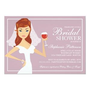 Modern Bride Wine Theme Bridal Shower Invitation starting at 2.56