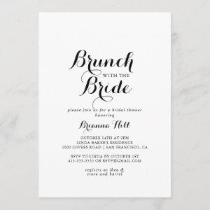 Modern Calligraphy Brunch with the Bride Shower Invitation starting at 2.51