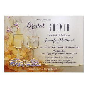 Modern Chic Floral Wine Themed Bridal Shower Invitation starting at 2.55
