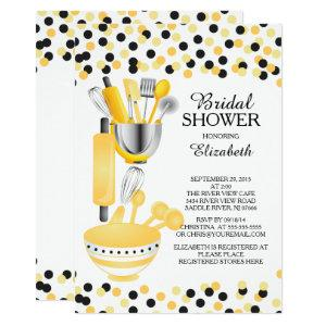 Modern Confetti Kitchen Bridal Shower Invitations starting at 2.40