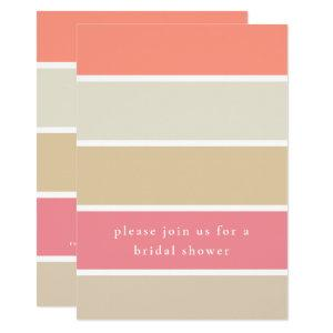 Modern Coral Peach Tan Color Block Bridal Shower Invitation starting at 2.40