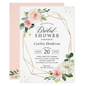 Modern Elegance Blush Pink Floral Bridal Shower Invitation starting at 2.10