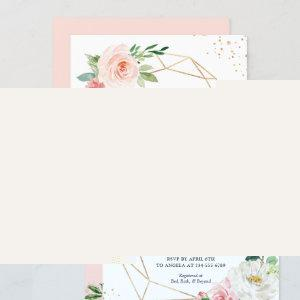 Modern Elegance Blush Pink Floral Bridal Shower Invitation starting at 2.35