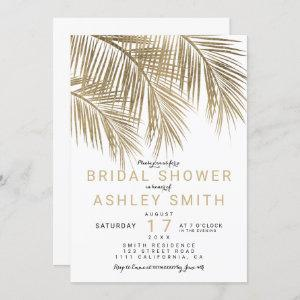 Modern faux gold palm tree Bridal shower Invitation starting at 2.40