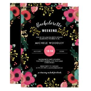 Modern Floral Bachelorette Weekend Invitations starting at 2.51