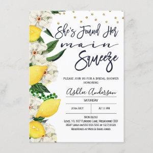 Modern Floral Lemon Main Squeeze Bridal Shower Invitation starting at 2.10