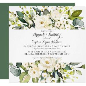 Modern Floral Rose Brunch and Bubbly Bridal Shower Invitation starting at 2.30