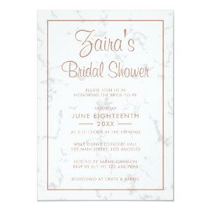 Modern Gray Marble with Rose Gold Bridal Shower Invitation starting at 2.51