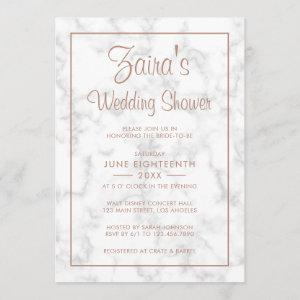 Modern Gray Marble with Rose Gold Wedding Shower Invitation starting at 2.51