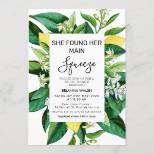 Modern lemon citrus main squeeze bridal shower invitation starting at 2.40