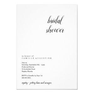 Modern & Minimalist Bridal Shower Invitation starting at 2.40