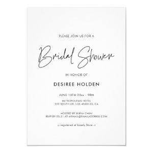 Modern minimalist bridal shower invitation starting at 2.55