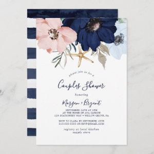 Modern Nautical | Floral Couples Shower Invitation starting at 2.51