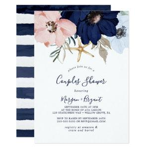 Modern Nautical | Floral Couples Shower Invitation starting at 2.26