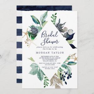 Modern Nautical | Greenery Bridal Shower Invitation starting at 2.51