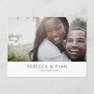 Modern Photo Couples Bridal Shower by Mail   Postcard starting at 1.70