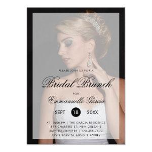 Modern Photo with Chic Script Bridal Brunch Invitation starting at 2.51