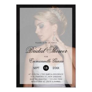 Modern Photo with Chic Script Bridal Shower Invitation starting at 2.51