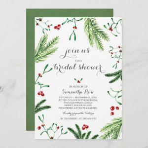 Modern Red and Green Christmas Bridal Shower Invitation starting at 2.45