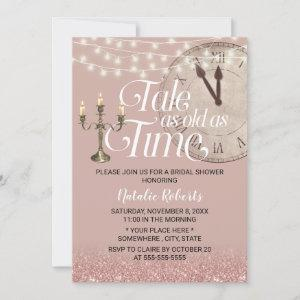 Modern Rose Gold Tale as Old as Time Bridal Shower Invitation starting at 2.40