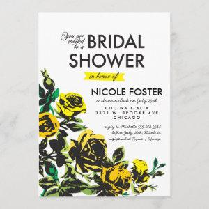 Modern Roses Bridal Shower in Yellow Invitation starting at 2.82