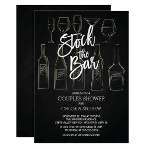 Modern Stock the Bar Couples Shower Invite starting at 2.40