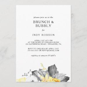 Modern Tropical Brunch and Bubbly Shower Invitation starting at 2.51