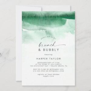 Modern Watercolor   Green Brunch & Bubbly Bridal starting at 2.51