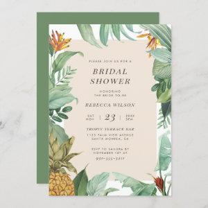 Modern Watercolor Pineapple Tropical Bridal Shower starting at 2.45