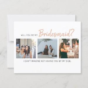 Modern Will You Be My Bridesmaid? | Photo Collage starting at 2.30