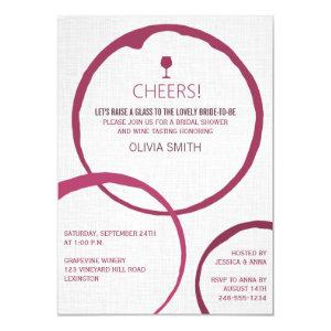 Modern Wine Stain Rings Bridal Shower Invitations starting at 2.20