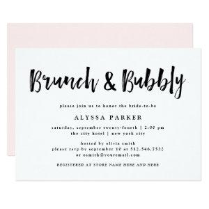 Modern Wish | Black and White Brunch and Bubbly Invitation starting at 2.36