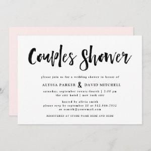 Modern Wish | Black and White Couples Shower Invitation starting at 2.66