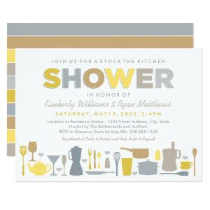 Modern Yellow Stock the Kitchen Couple's Shower Invitation starting at 2.26