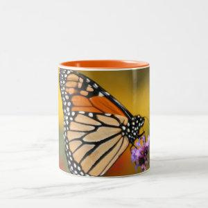 Monarch Butterfly In Search of Pollen Two-Tone Coffee Mug starting at 18.95