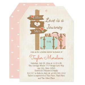 Monogram Traveling from Miss to Mrs Bridal Shower Invitation starting at 2.91