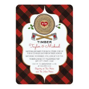 Monogrammed Lumberjack and Jill Wedding Shower Invitation starting at 2.86