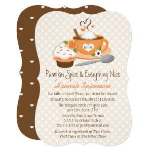 Monogrammed Pumpkin Spice Fall Bridal Shower Invitation starting at 2.80