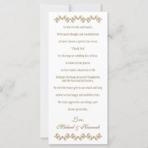 Monogrammed Purple Gold Moroccan Wedding Charity starting at 2.85