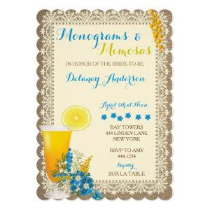 Monograms and Mimosas Bridal Shower Invitations starting at 2.70