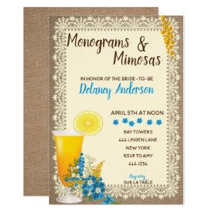 Monograms and Mimosas Bridal Shower Invitations starting at 2.40