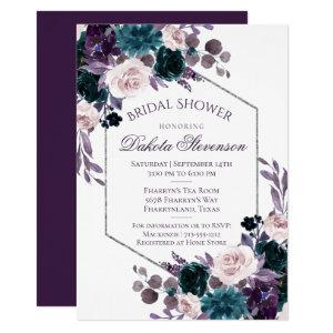 Moody Boho | Eggplant Purple Bouquet Bridal Shower Invitation starting at 2.40