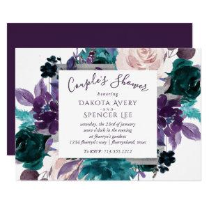 Moody Boho | Eggplant Purple Floral Couple Shower Invitation starting at 2.40