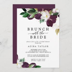 Moody Purple Brunch with the Bride Bridal Shower Invitation starting at 2.51