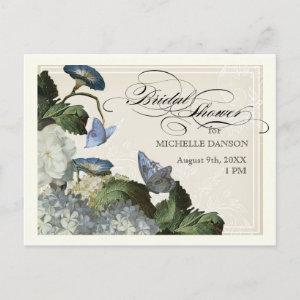 Morning Glory Hydrangea -  Bridal Shower Postcard starting at 1.80