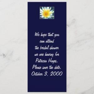 Morning White Yellow Flower Save the Date Card starting at 3.15