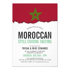 Moroccan Cuisine | Party Flag White Invite starting at 2.55